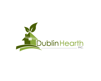 Logo Design by Private User - Entry No. 137 in the Logo Design Contest clean professional  Logo Design for Dublin Hearth Inc. with a splash of fun with letter head.