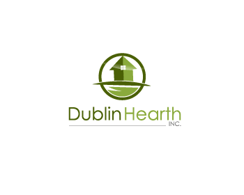 Logo Design by Private User - Entry No. 139 in the Logo Design Contest clean professional  Logo Design for Dublin Hearth Inc. with a splash of fun with letter head.