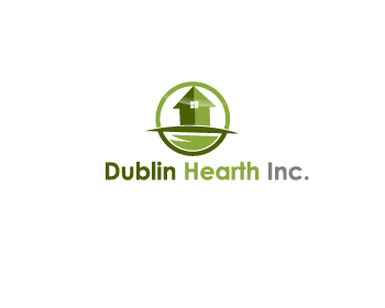 Logo Design by Private User - Entry No. 140 in the Logo Design Contest clean professional  Logo Design for Dublin Hearth Inc. with a splash of fun with letter head.