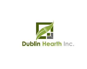 Logo Design by Private User - Entry No. 141 in the Logo Design Contest clean professional  Logo Design for Dublin Hearth Inc. with a splash of fun with letter head.