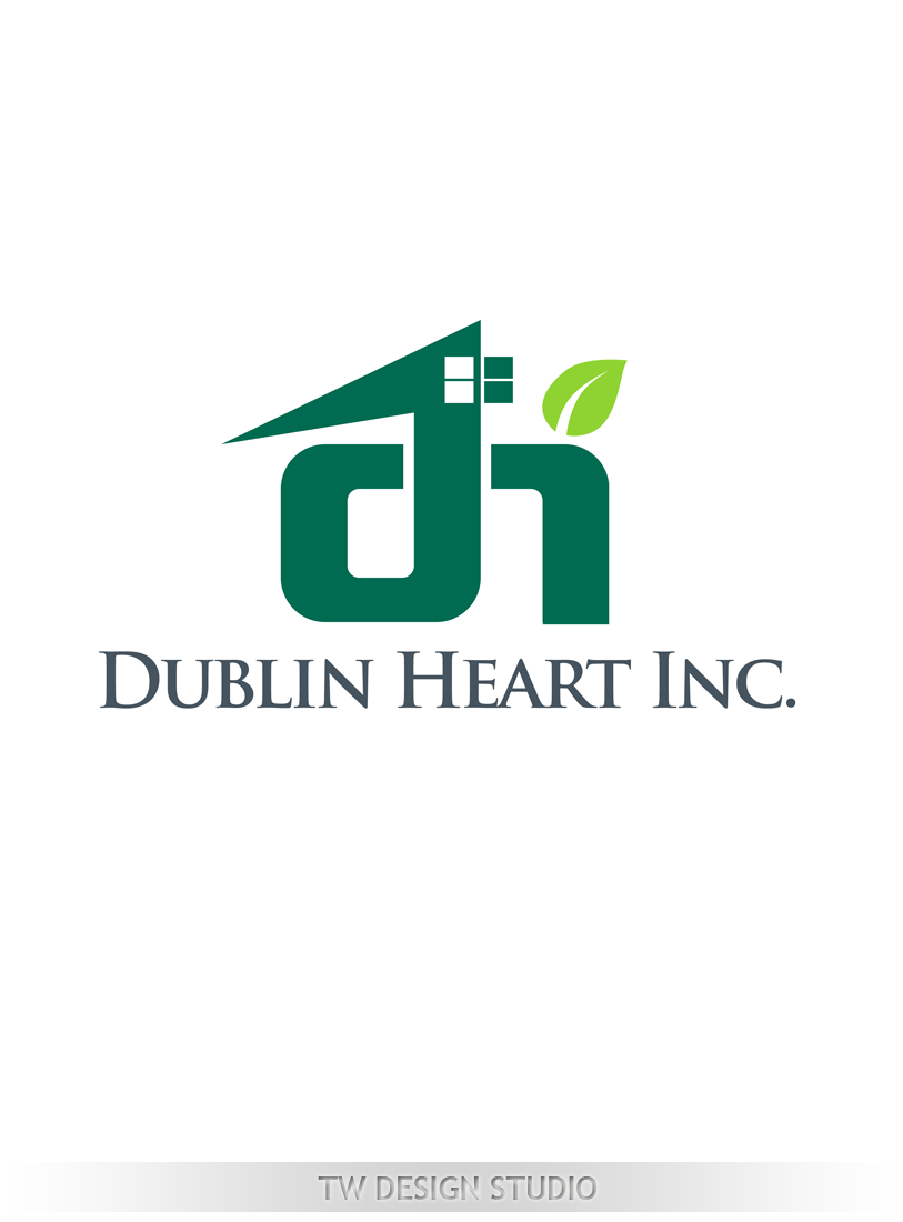 Logo Design by Private User - Entry No. 142 in the Logo Design Contest clean professional  Logo Design for Dublin Hearth Inc. with a splash of fun with letter head.