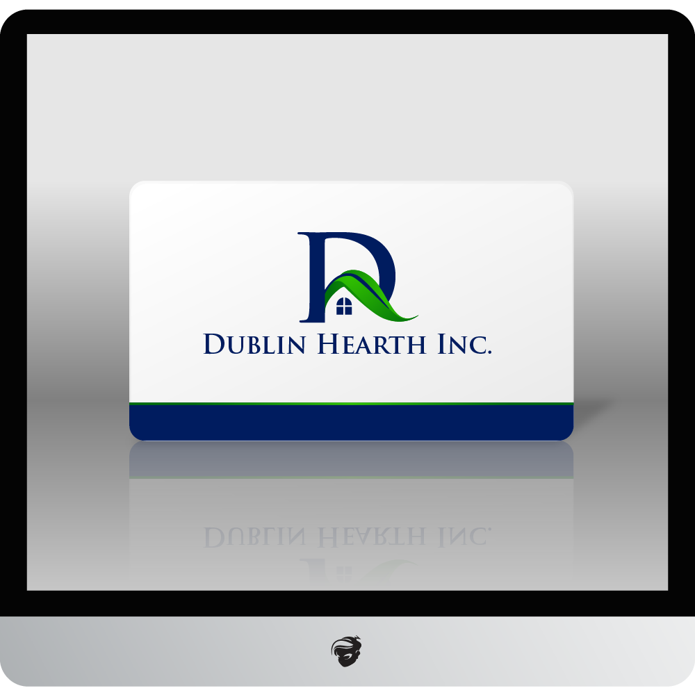 Logo Design by zesthar - Entry No. 143 in the Logo Design Contest clean professional  Logo Design for Dublin Hearth Inc. with a splash of fun with letter head.