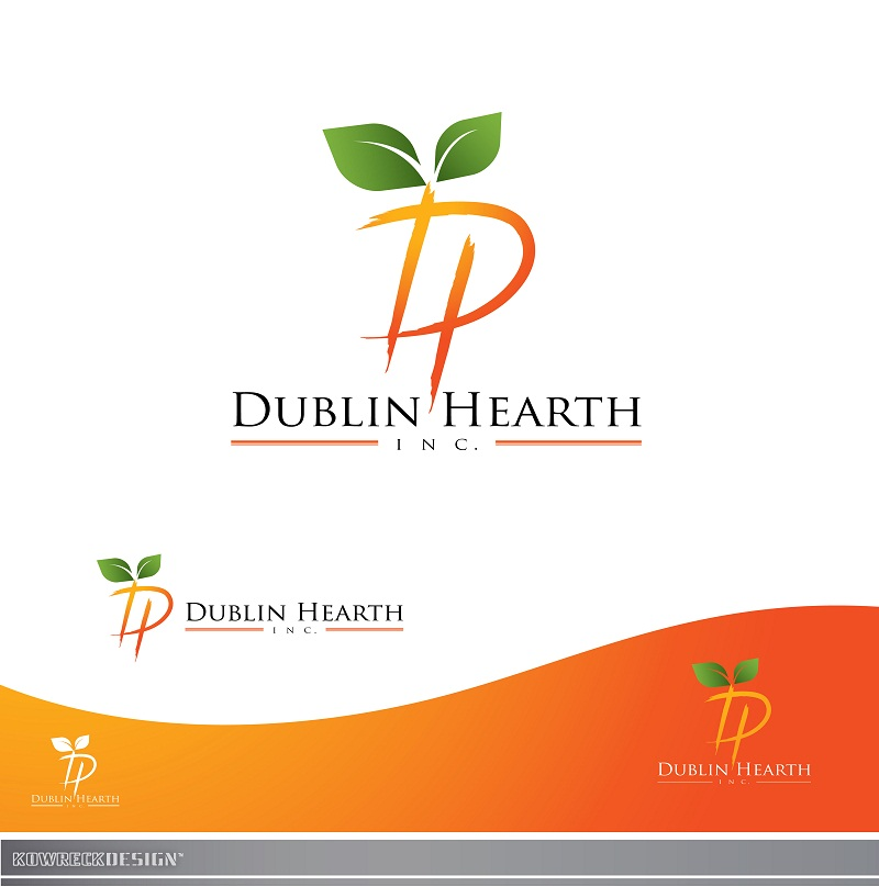 Logo Design by kowreck - Entry No. 144 in the Logo Design Contest clean professional  Logo Design for Dublin Hearth Inc. with a splash of fun with letter head.