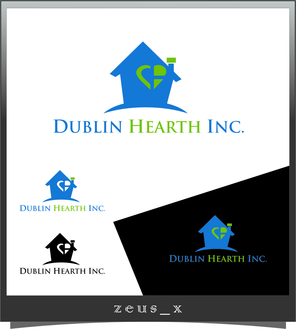 Logo Design by Ngepet_art - Entry No. 146 in the Logo Design Contest clean professional  Logo Design for Dublin Hearth Inc. with a splash of fun with letter head.