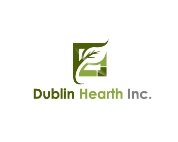 Logo Design by Private User - Entry No. 149 in the Logo Design Contest clean professional  Logo Design for Dublin Hearth Inc. with a splash of fun with letter head.