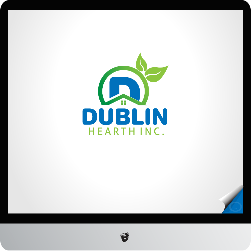 Logo Design by zesthar - Entry No. 150 in the Logo Design Contest clean professional  Logo Design for Dublin Hearth Inc. with a splash of fun with letter head.