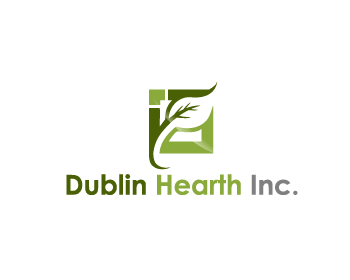 Logo Design by Private User - Entry No. 151 in the Logo Design Contest clean professional  Logo Design for Dublin Hearth Inc. with a splash of fun with letter head.
