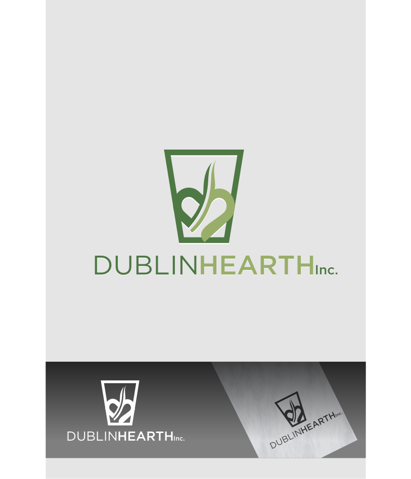Logo Design by Muhammad Nasrul chasib - Entry No. 152 in the Logo Design Contest clean professional  Logo Design for Dublin Hearth Inc. with a splash of fun with letter head.