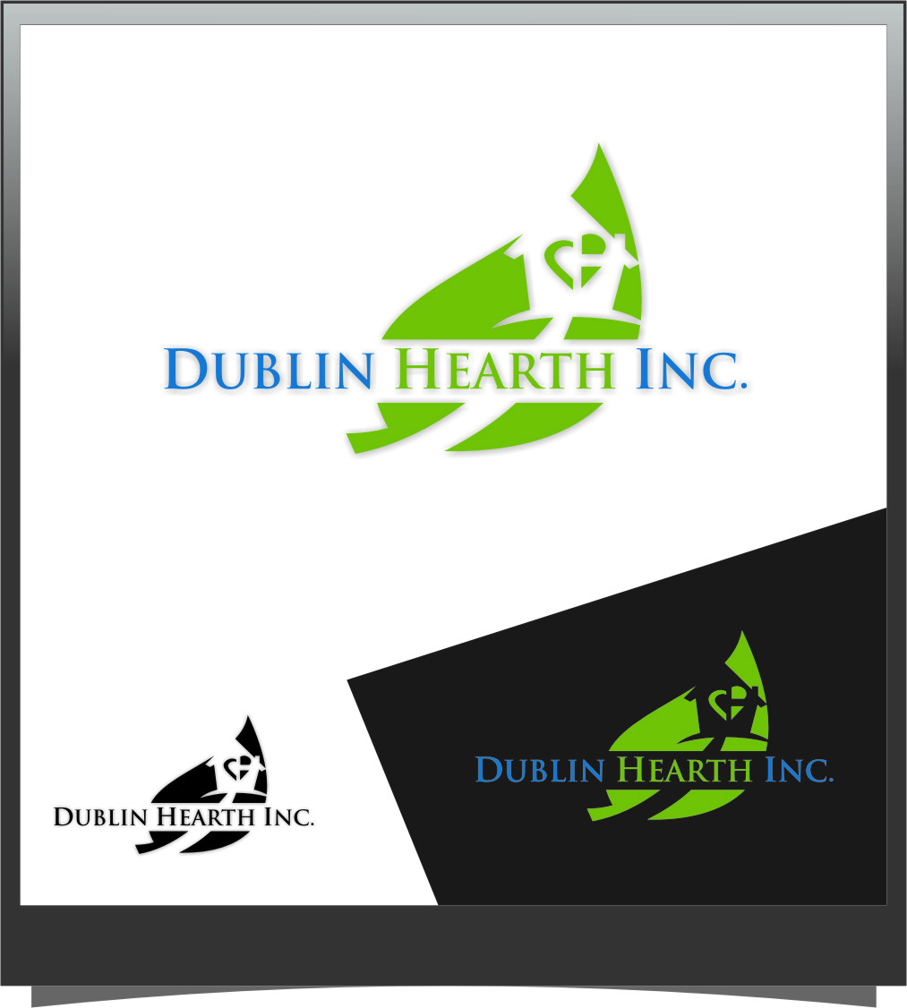 Logo Design by Ngepet_art - Entry No. 153 in the Logo Design Contest clean professional  Logo Design for Dublin Hearth Inc. with a splash of fun with letter head.