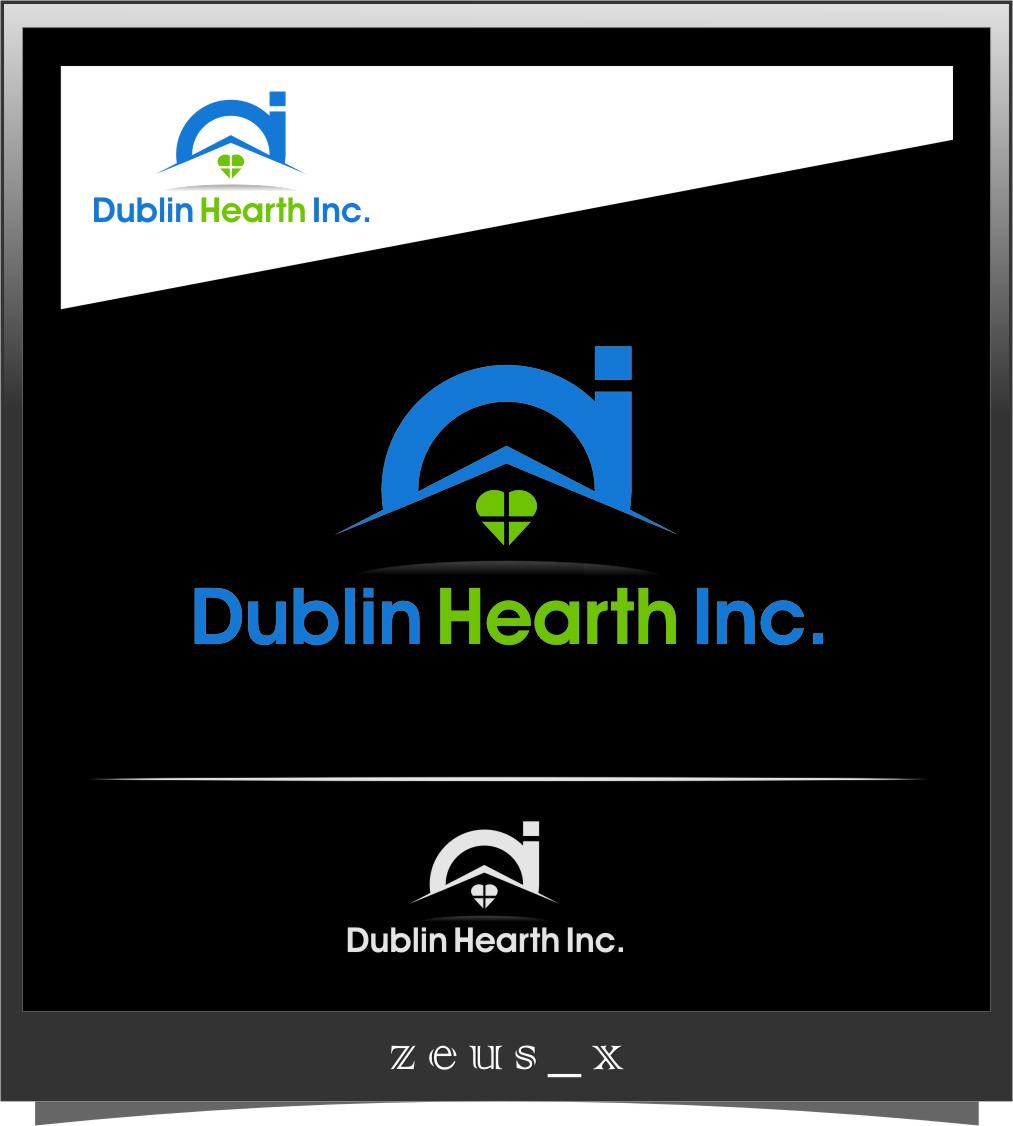 Logo Design by RasYa Muhammad Athaya - Entry No. 154 in the Logo Design Contest clean professional  Logo Design for Dublin Hearth Inc. with a splash of fun with letter head.