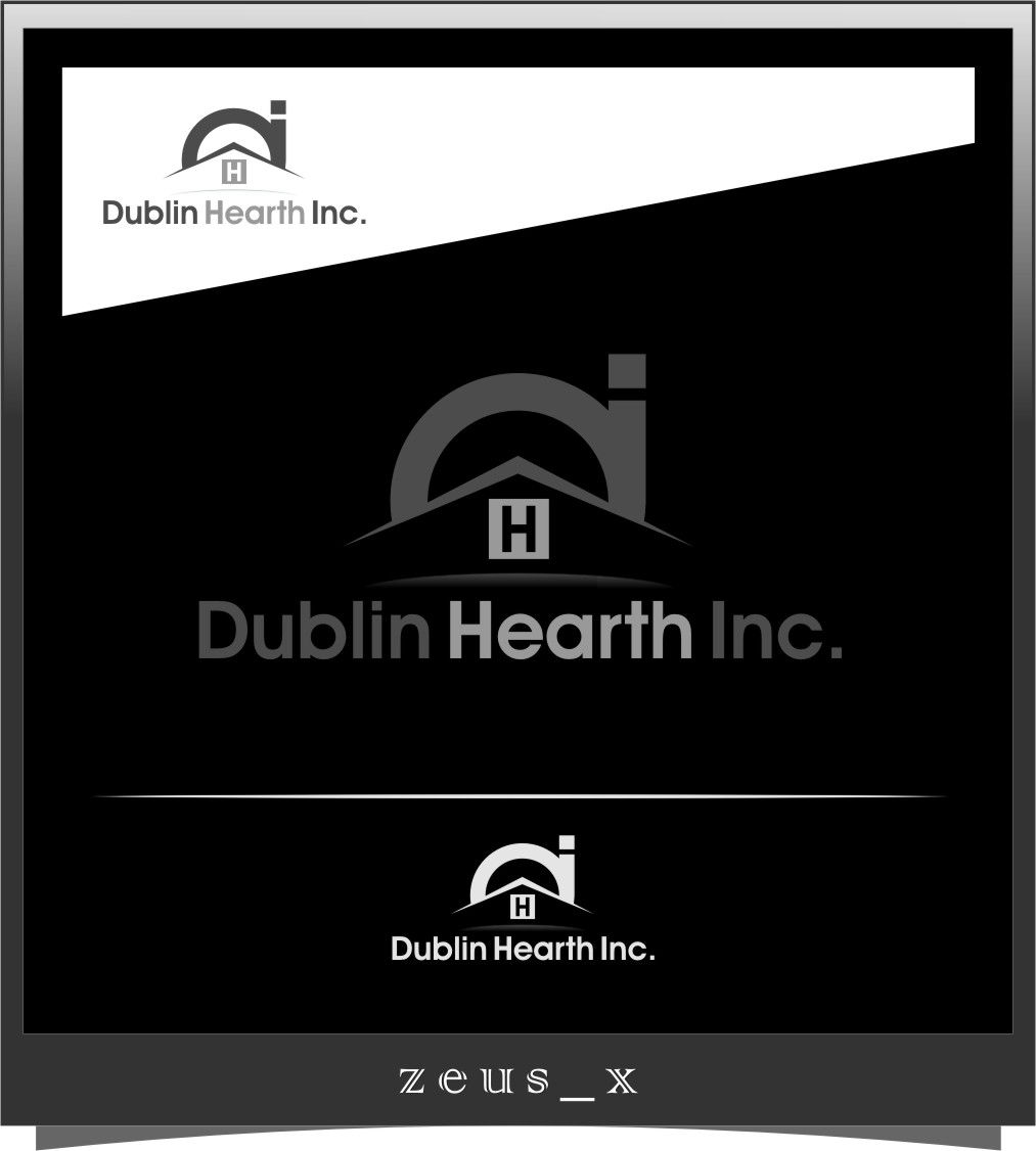 Logo Design by RasYa Muhammad Athaya - Entry No. 155 in the Logo Design Contest clean professional  Logo Design for Dublin Hearth Inc. with a splash of fun with letter head.