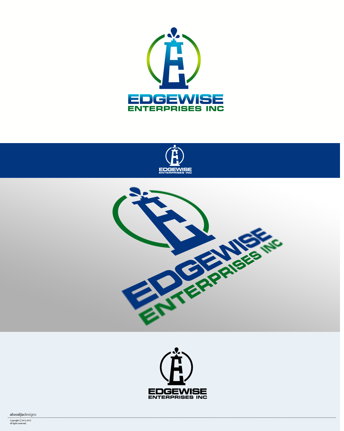 Logo Design by alocelja - Entry No. 46 in the Logo Design Contest New Logo Design for Edgewise Enterprises Inc..