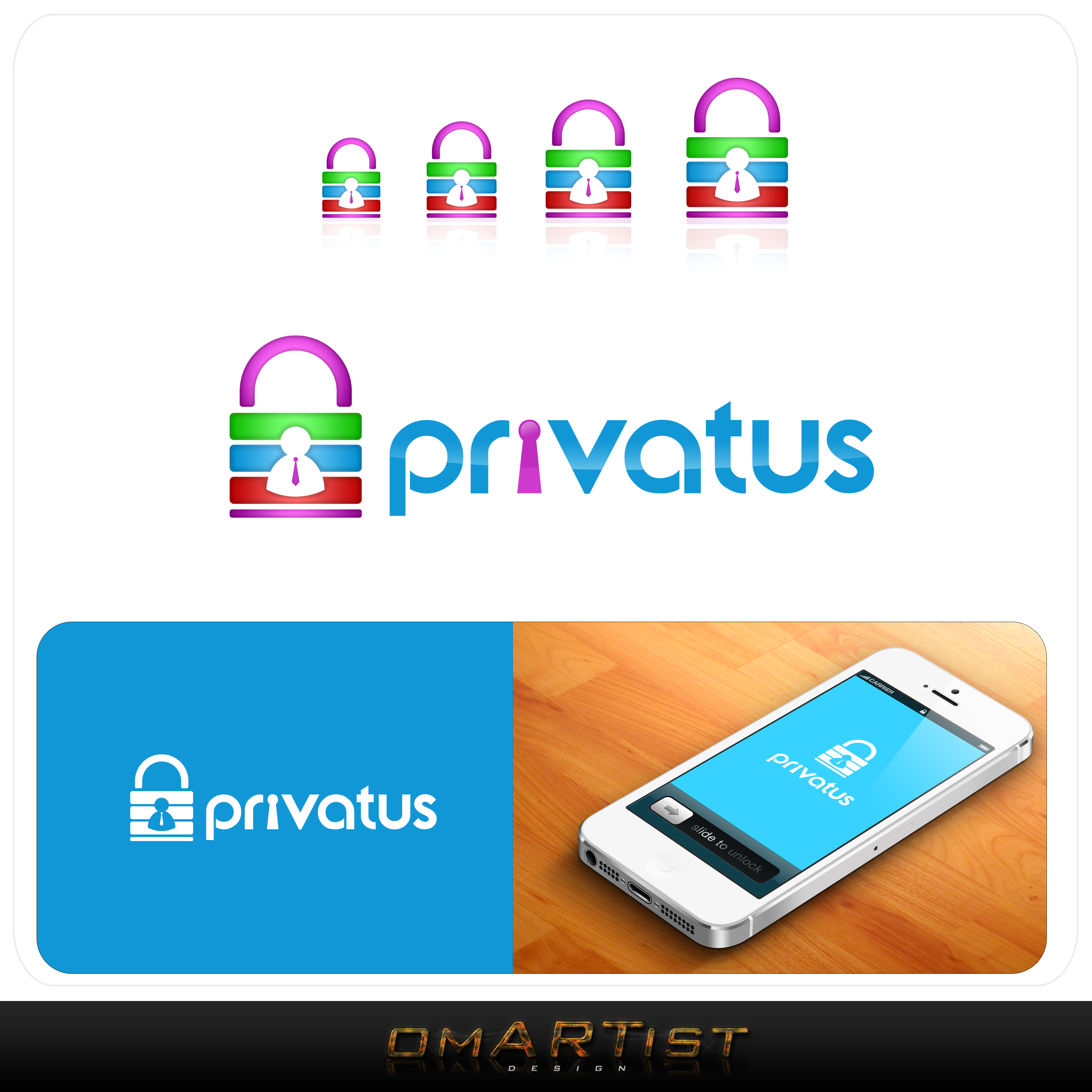 Logo Design by omARTist - Entry No. 168 in the Logo Design Contest New Logo Design for privatus.
