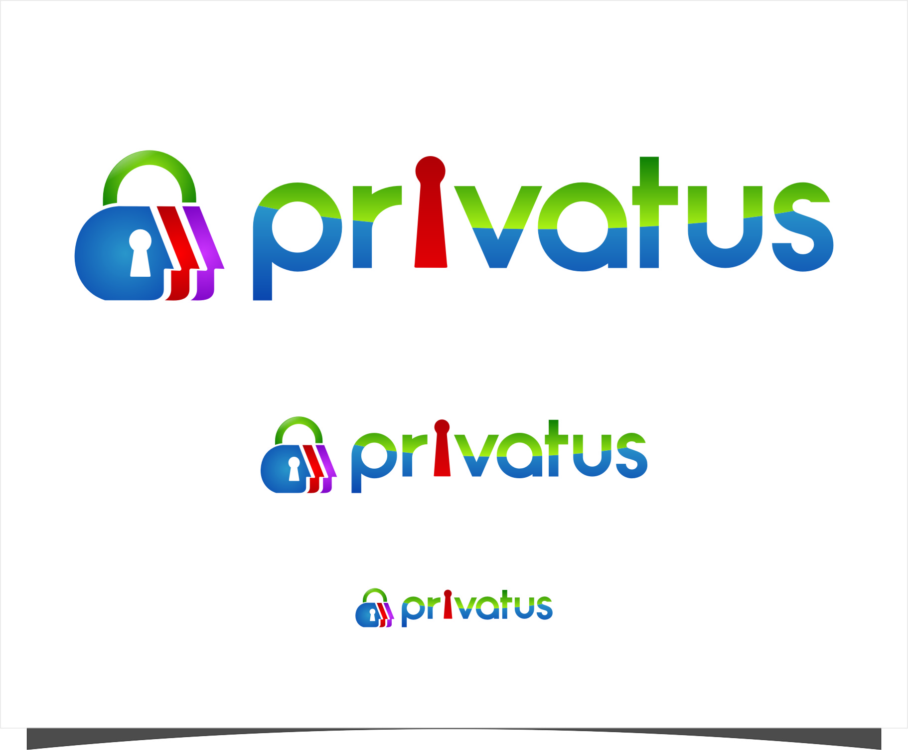 Logo Design by RoSyid Rono-Rene On Java - Entry No. 193 in the Logo Design Contest New Logo Design for privatus.