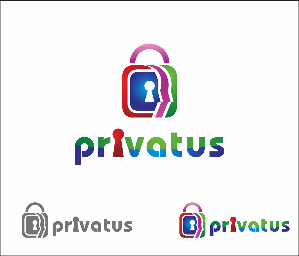 Logo Design by Armada Jamaluddin - Entry No. 250 in the Logo Design Contest New Logo Design for privatus.