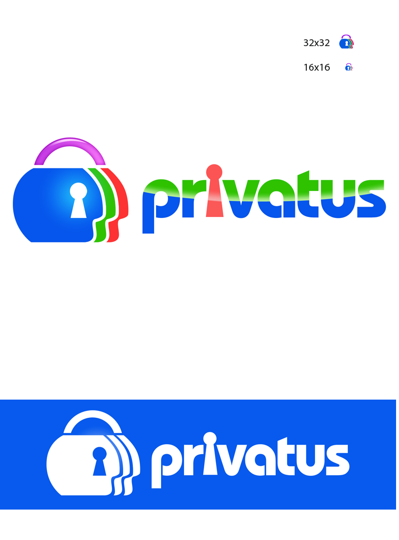 Logo Design by Robert Turla - Entry No. 260 in the Logo Design Contest New Logo Design for privatus.