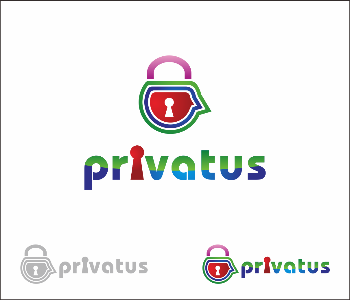 Logo Design by Armada Jamaluddin - Entry No. 264 in the Logo Design Contest New Logo Design for privatus.