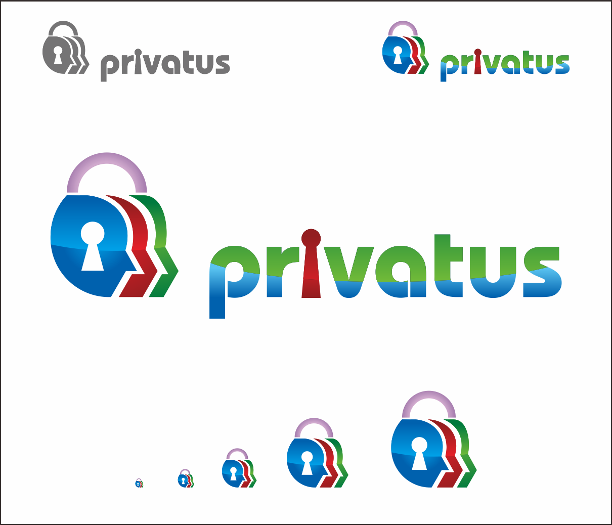 Logo Design by Armada Jamaluddin - Entry No. 265 in the Logo Design Contest New Logo Design for privatus.