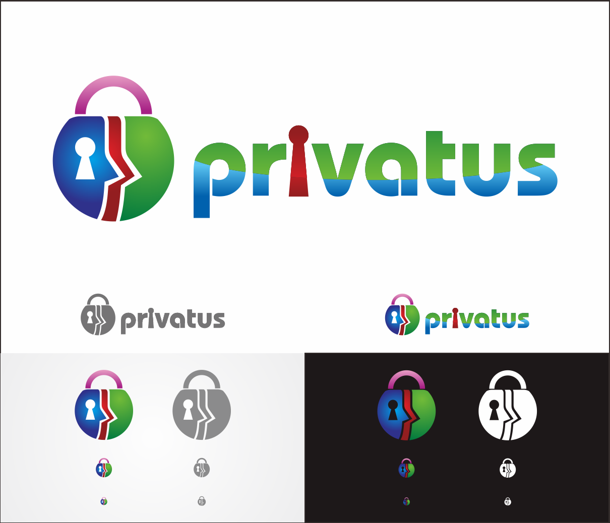 Logo Design by Armada Jamaluddin - Entry No. 267 in the Logo Design Contest New Logo Design for privatus.