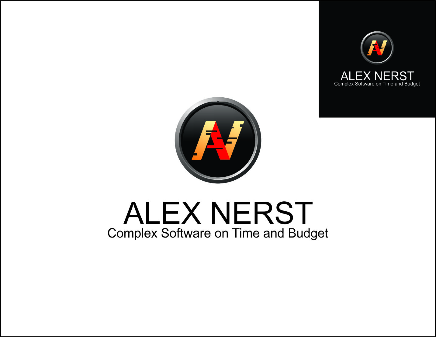 Logo Design by Agus Martoyo - Entry No. 29 in the Logo Design Contest Artistic Logo Design for Alex Nerst.