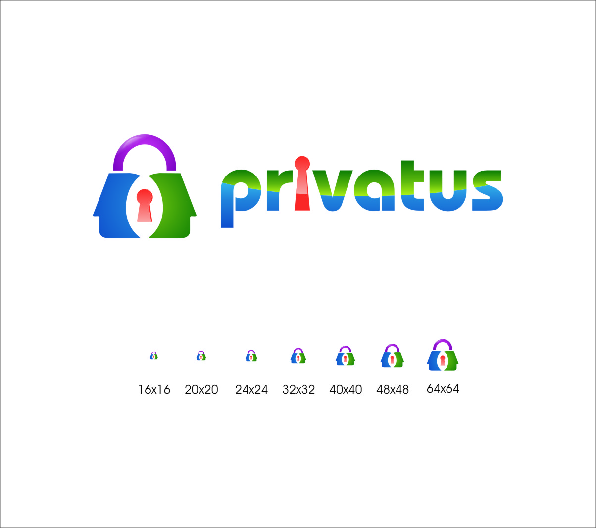 Logo Design by RoSyid Rono-Rene On Java - Entry No. 282 in the Logo Design Contest New Logo Design for privatus.
