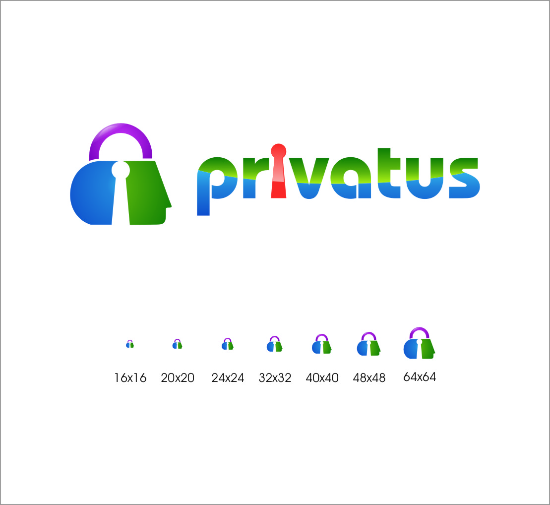 Logo Design by RoSyid Rono-Rene On Java - Entry No. 284 in the Logo Design Contest New Logo Design for privatus.