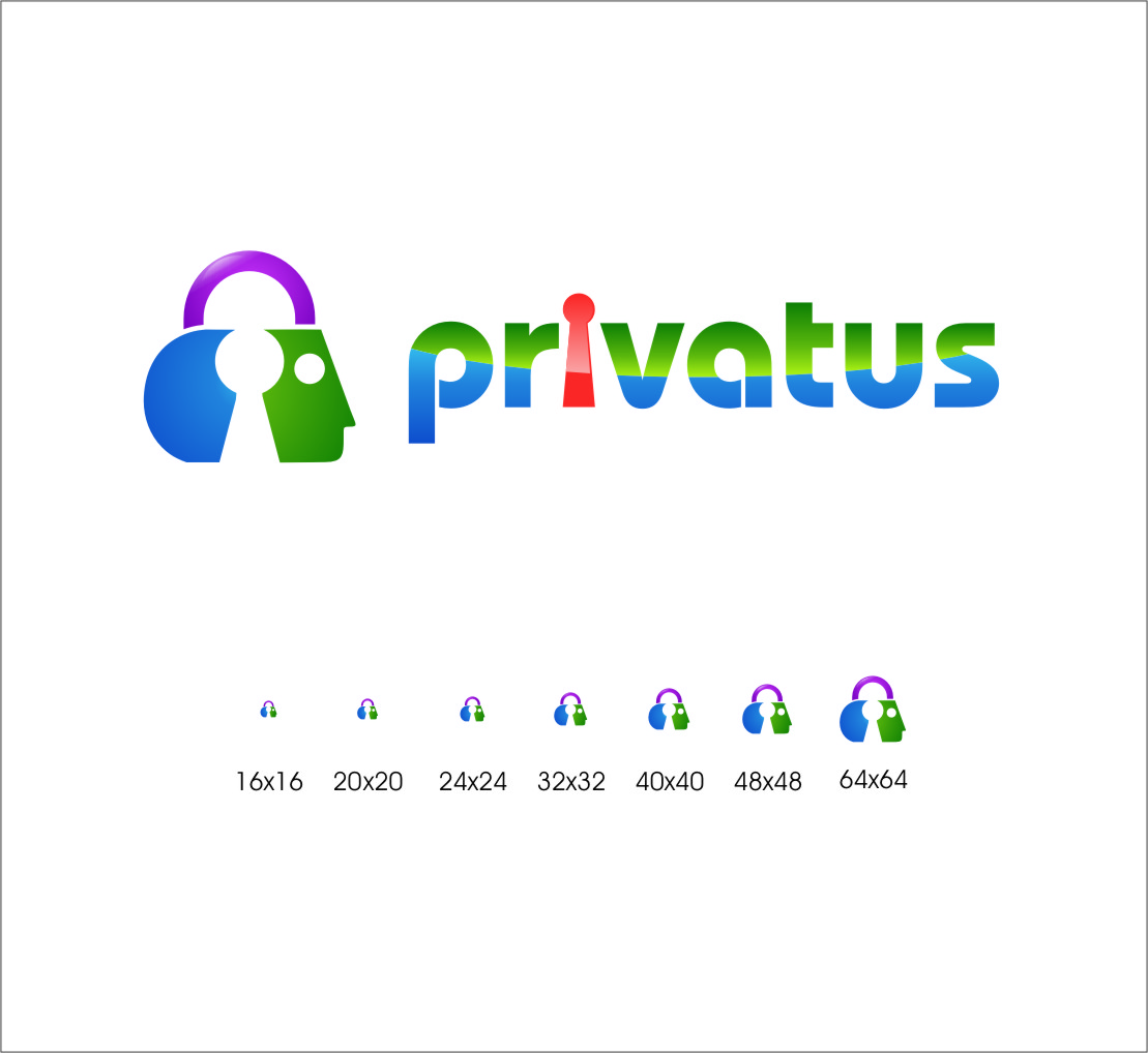 Logo Design by Ngepet_art - Entry No. 288 in the Logo Design Contest New Logo Design for privatus.