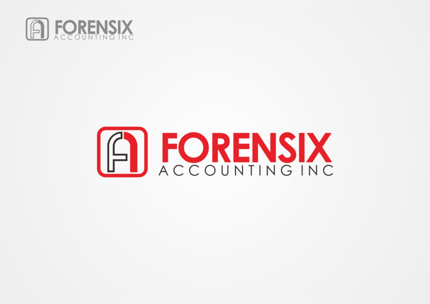 Logo Design by Private User - Entry No. 4 in the Logo Design Contest FORENSIX ACCOUNTING INC. Logo Design.