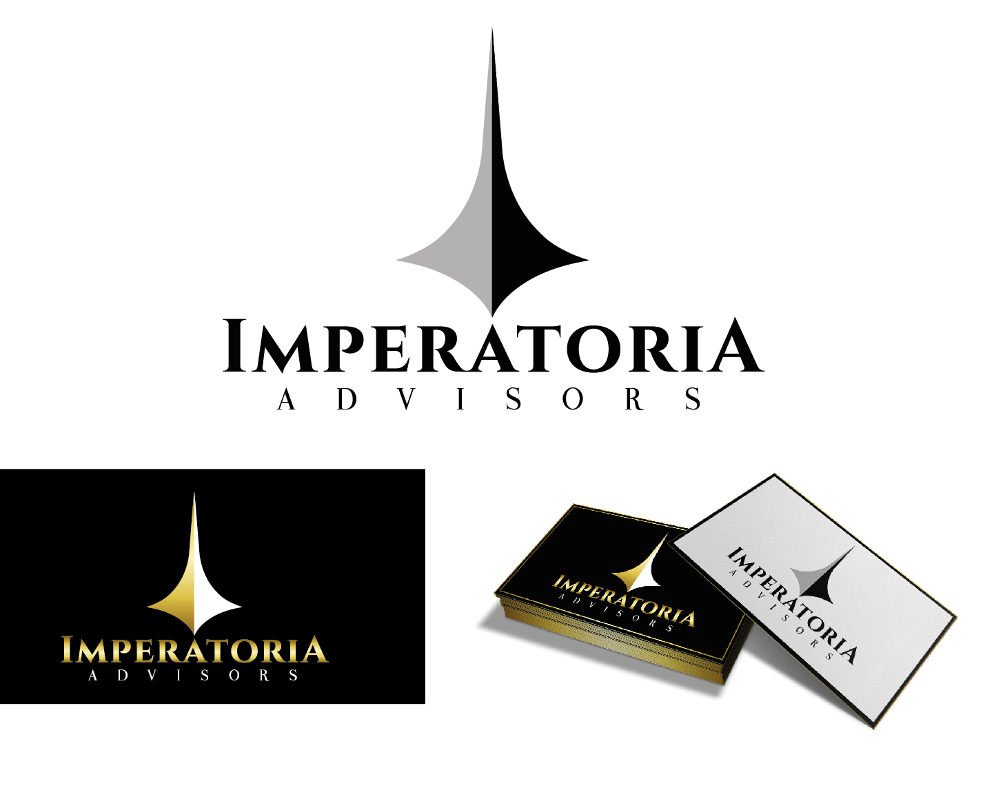Logo Design by VENTSISLAV KOVACHEV - Entry No. 6 in the Logo Design Contest Unique Logo Design Wanted for Imperatoria Advisors.