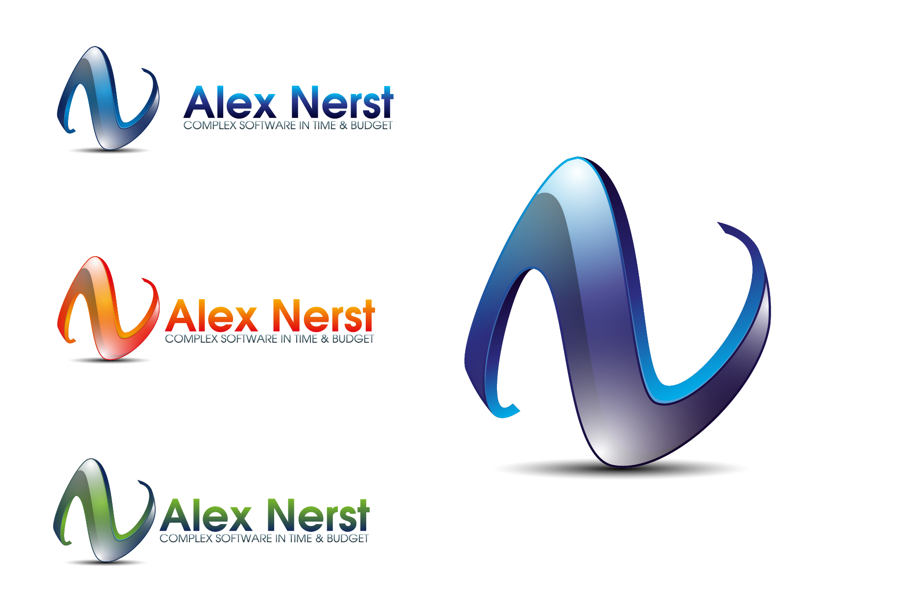 Logo Design by Private User - Entry No. 58 in the Logo Design Contest Artistic Logo Design for Alex Nerst.