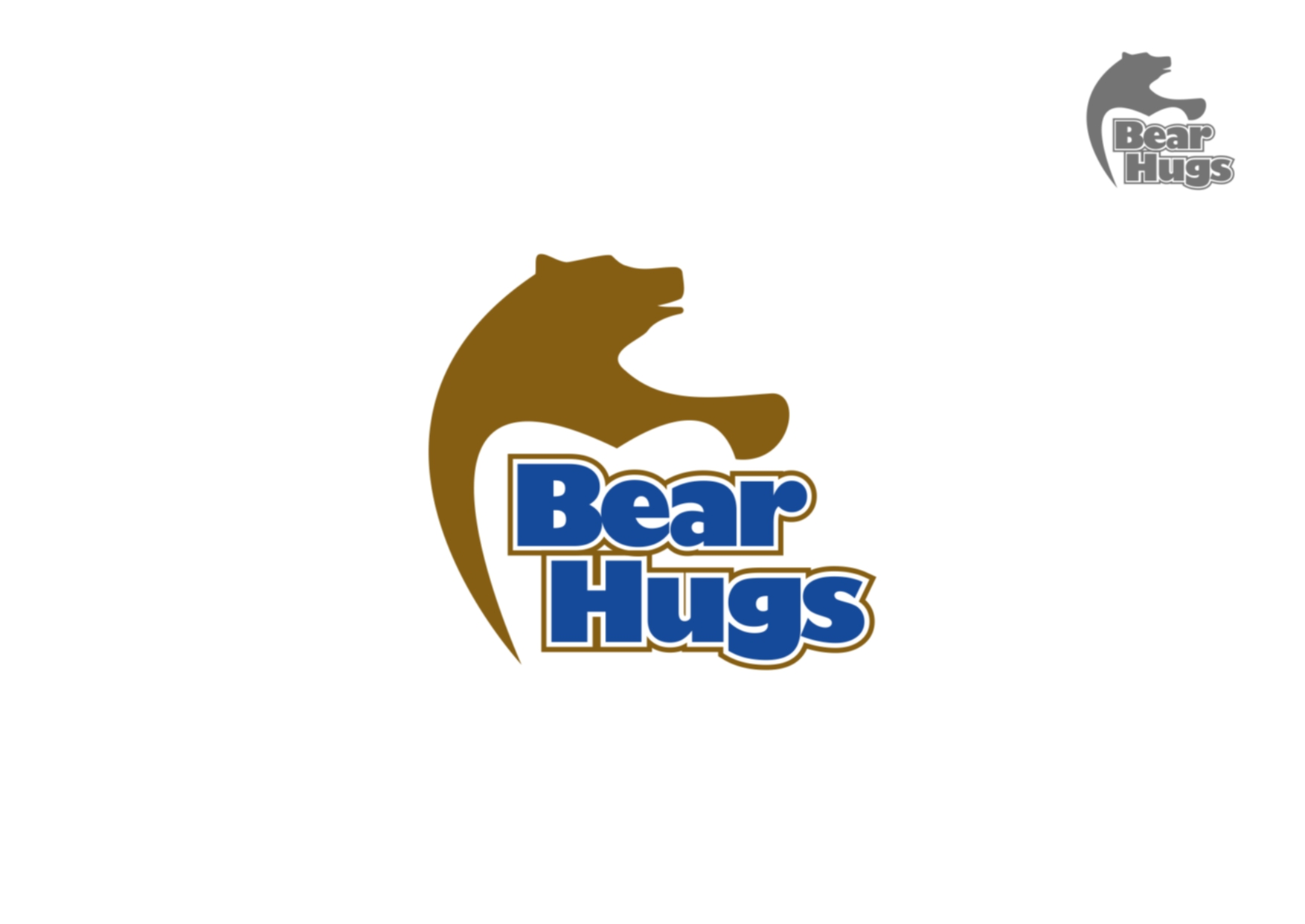 Logo Design by Private User - Entry No. 4 in the Logo Design Contest Inspiring Logo Design for BearHugs.