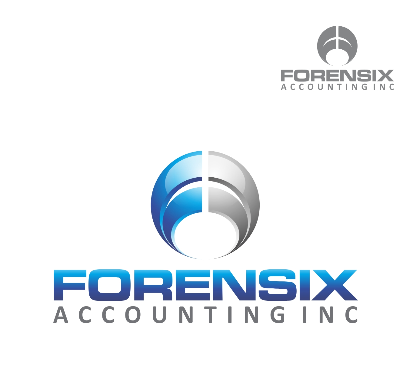 Logo Design by Reivan Ferdinan - Entry No. 24 in the Logo Design Contest FORENSIX ACCOUNTING INC. Logo Design.