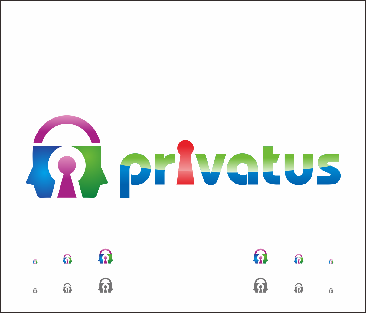 Logo Design by Armada Jamaluddin - Entry No. 335 in the Logo Design Contest New Logo Design for privatus.