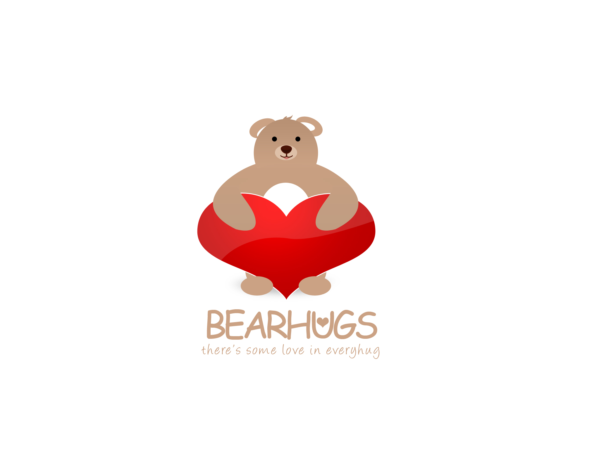 Logo Design by Jan Chua - Entry No. 17 in the Logo Design Contest Inspiring Logo Design for BearHugs.