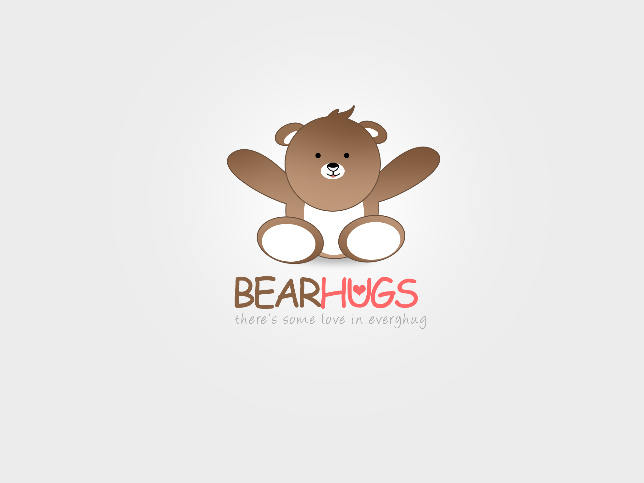 Logo Design by Jan Chua - Entry No. 19 in the Logo Design Contest Inspiring Logo Design for BearHugs.