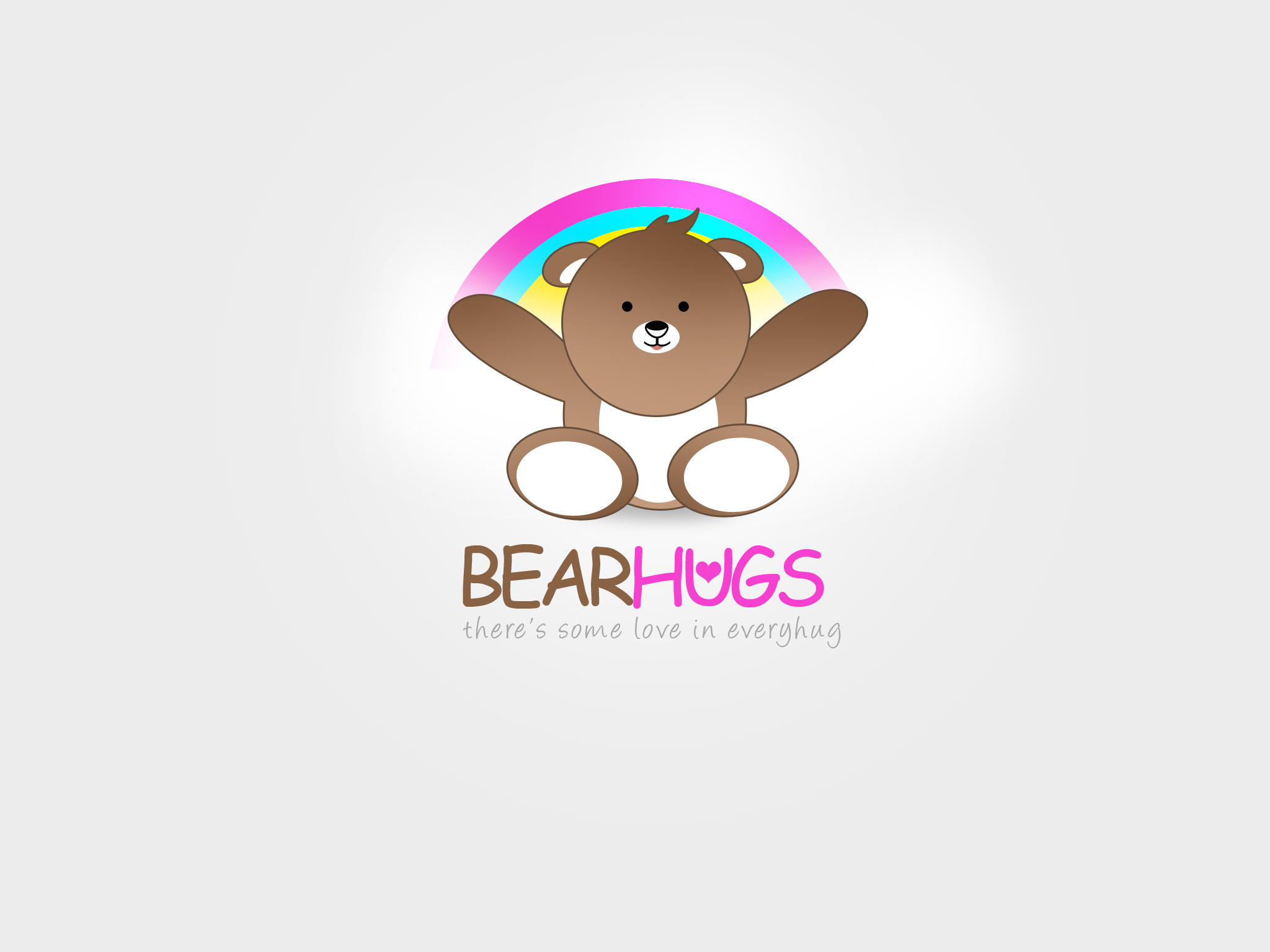 Logo Design by Jan Chua - Entry No. 21 in the Logo Design Contest Inspiring Logo Design for BearHugs.