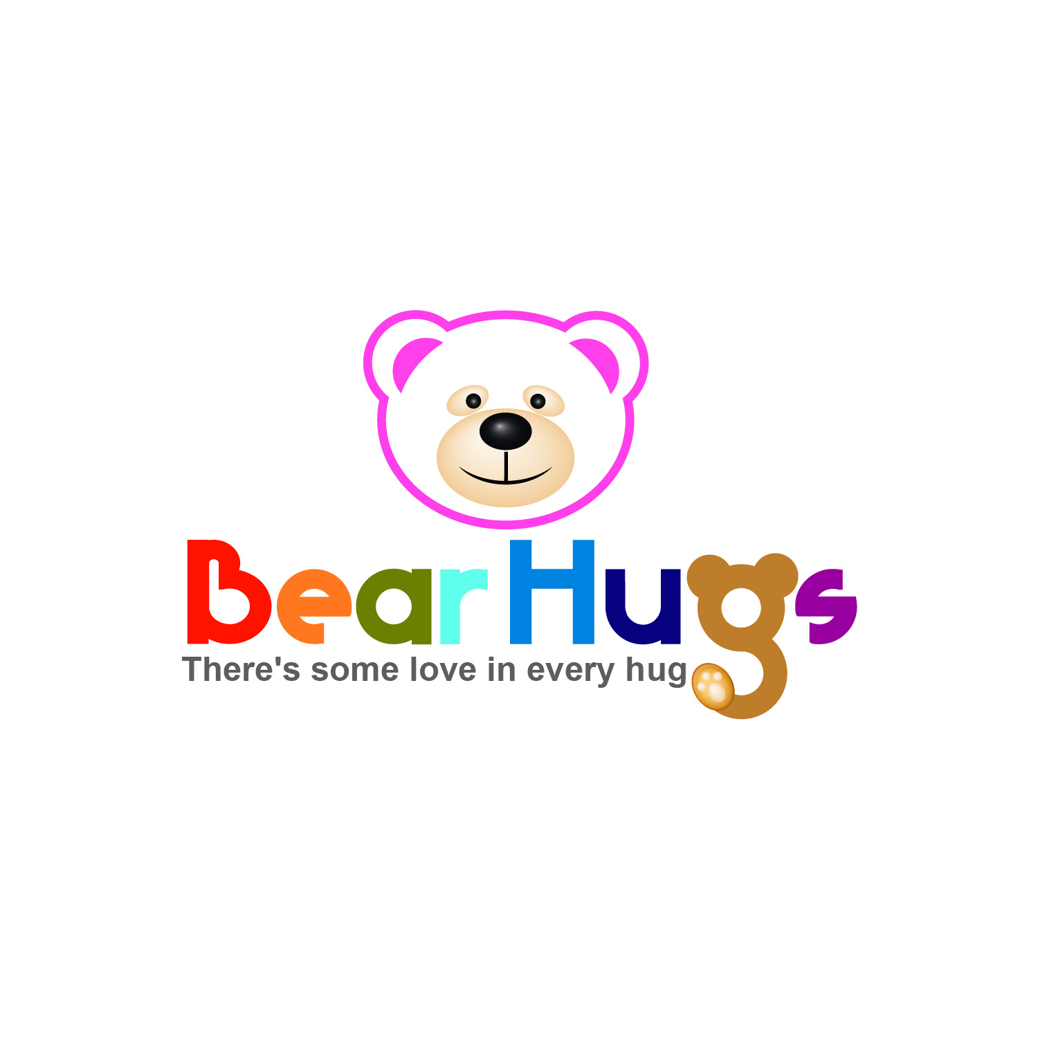 Logo Design by lagalag - Entry No. 24 in the Logo Design Contest Inspiring Logo Design for BearHugs.