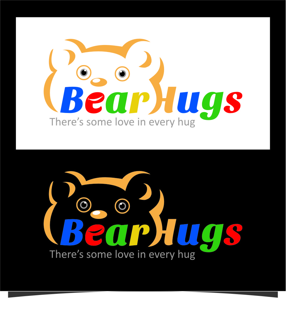 Logo Design by Ngepet_art - Entry No. 27 in the Logo Design Contest Inspiring Logo Design for BearHugs.