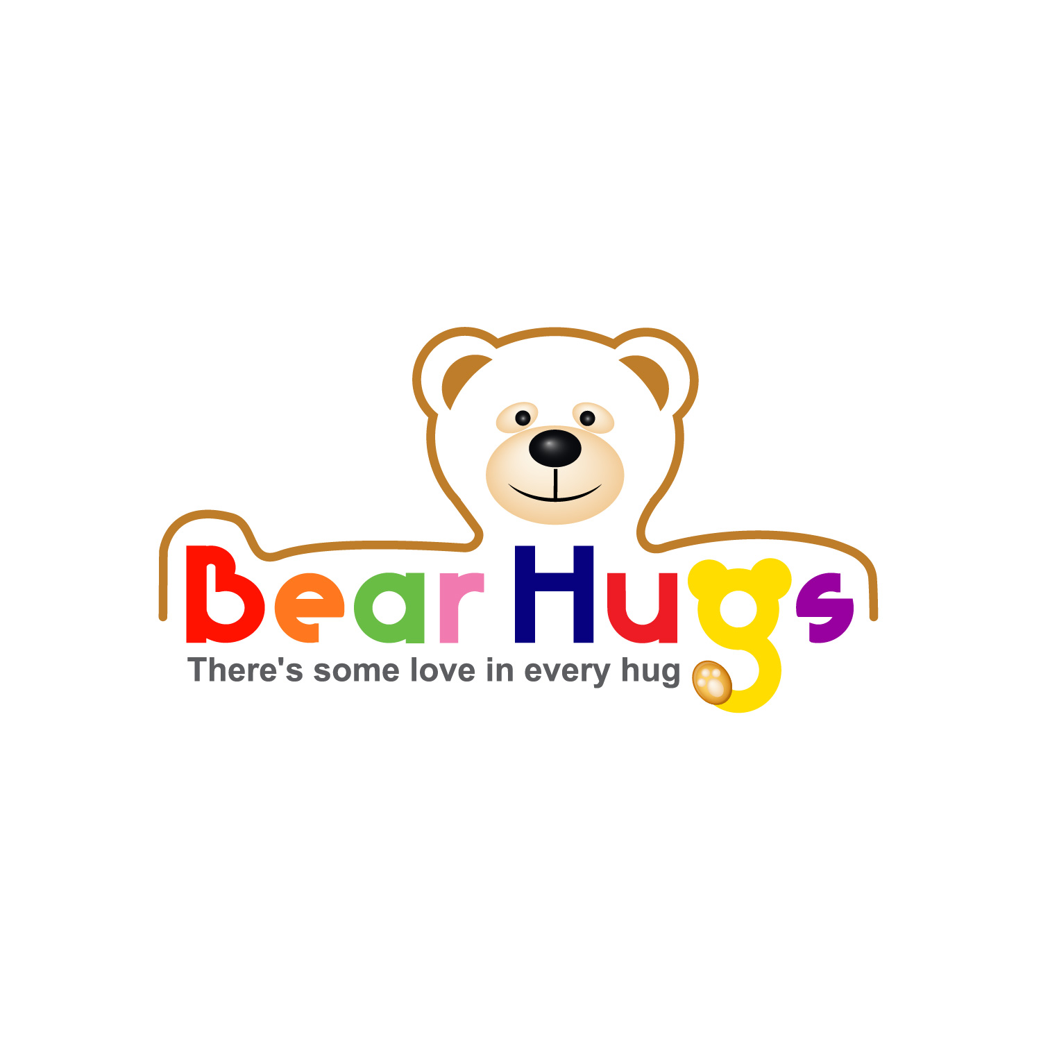 Logo Design by lagalag - Entry No. 33 in the Logo Design Contest Inspiring Logo Design for BearHugs.