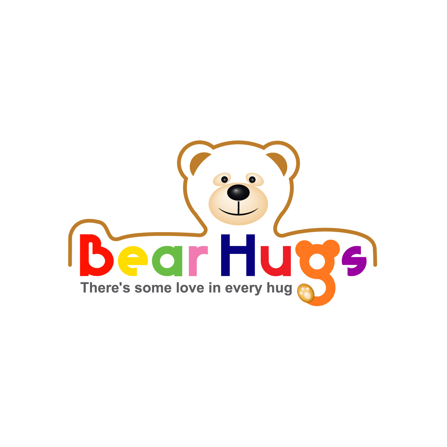 Logo Design by lagalag - Entry No. 36 in the Logo Design Contest Inspiring Logo Design for BearHugs.
