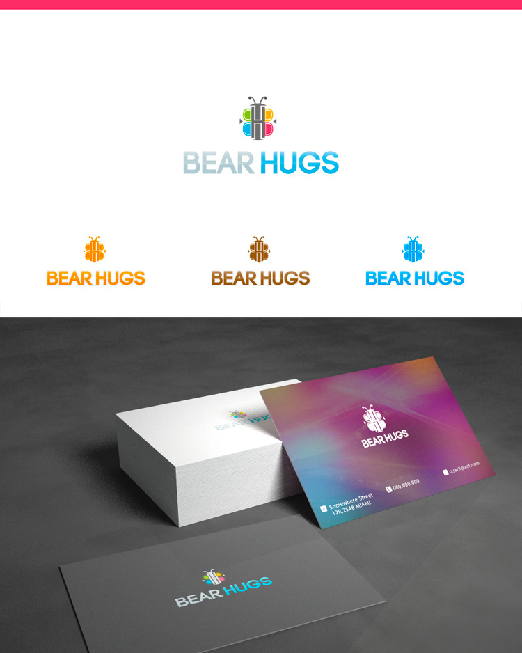 Logo Design by Private User - Entry No. 37 in the Logo Design Contest Inspiring Logo Design for BearHugs.