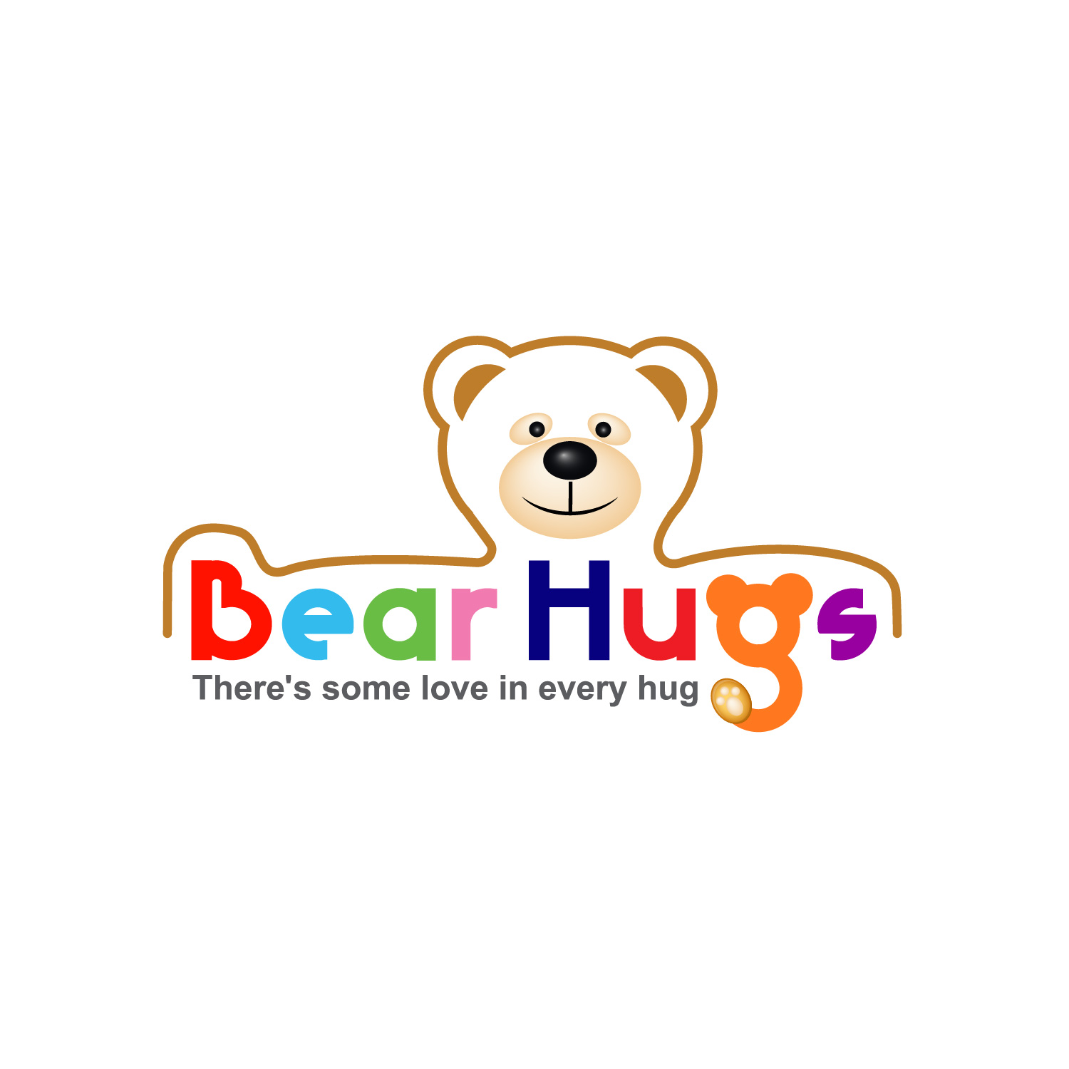 Logo Design by lagalag - Entry No. 40 in the Logo Design Contest Inspiring Logo Design for BearHugs.