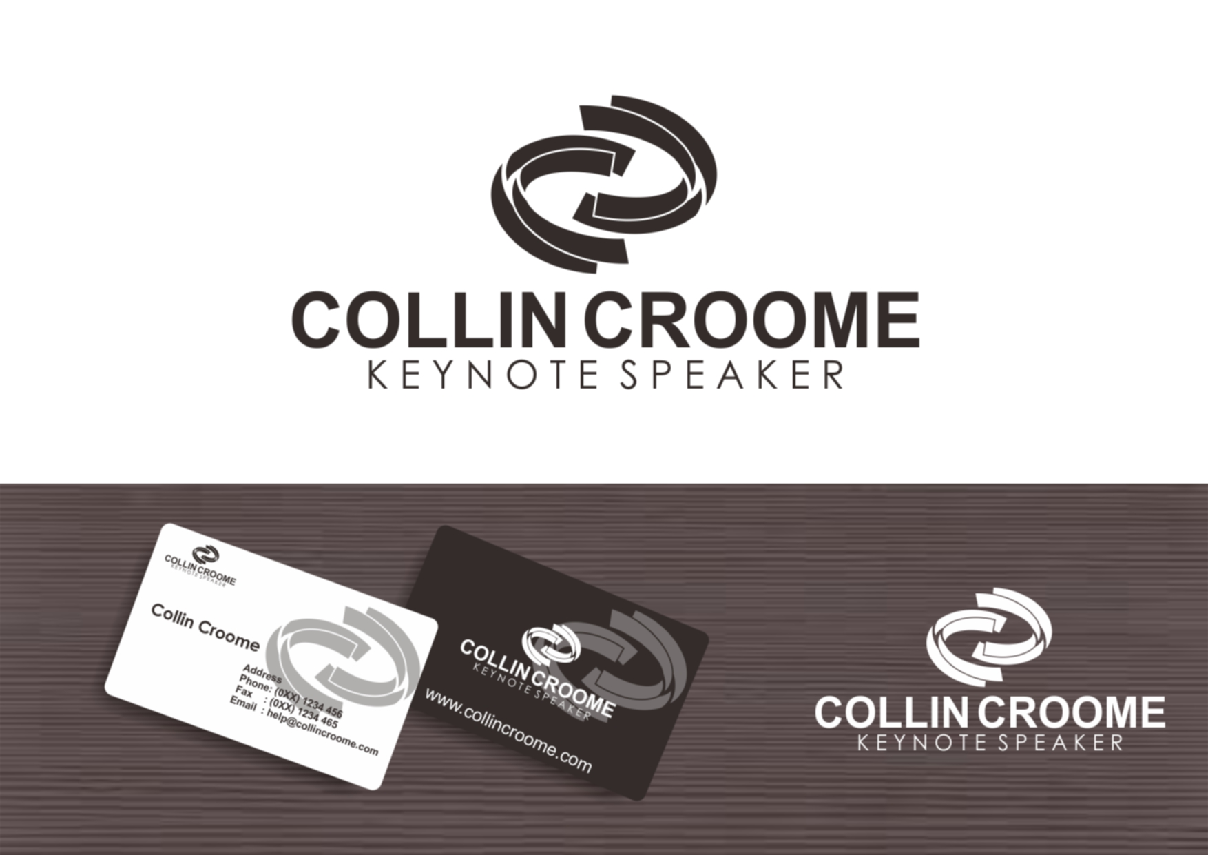 Logo Design by Private User - Entry No. 254 in the Logo Design Contest Modern Logo Design for Collin Croome.