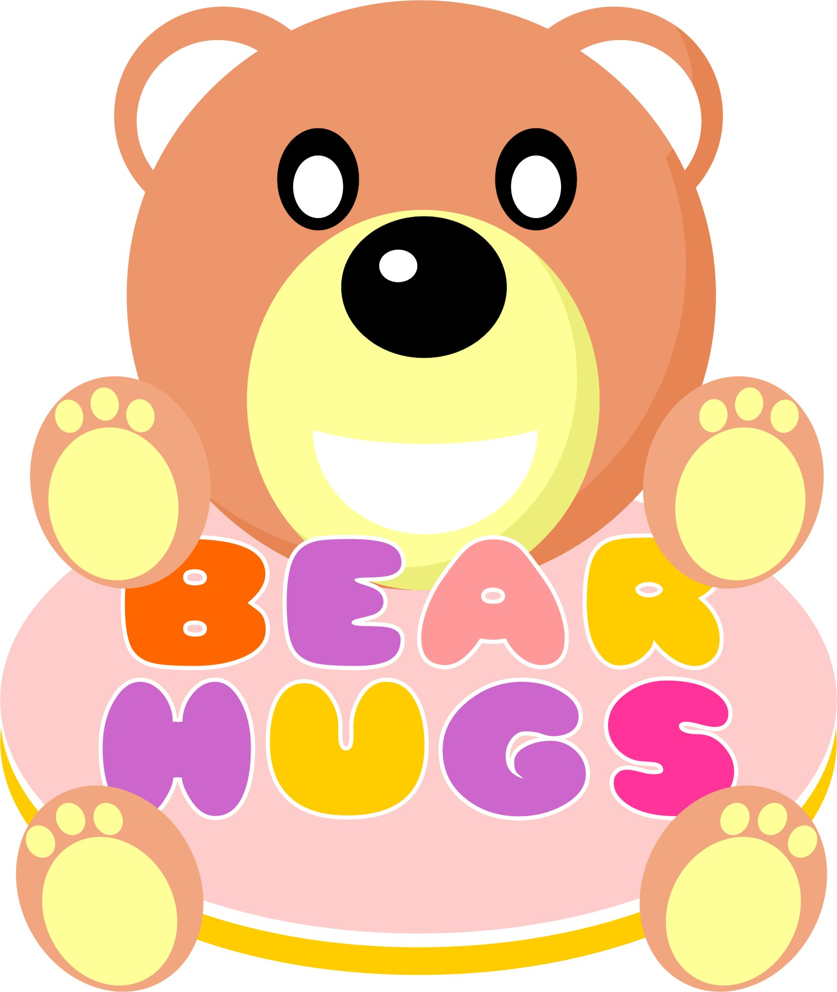Logo Design by Achmad Ismail - Entry No. 46 in the Logo Design Contest Inspiring Logo Design for BearHugs.