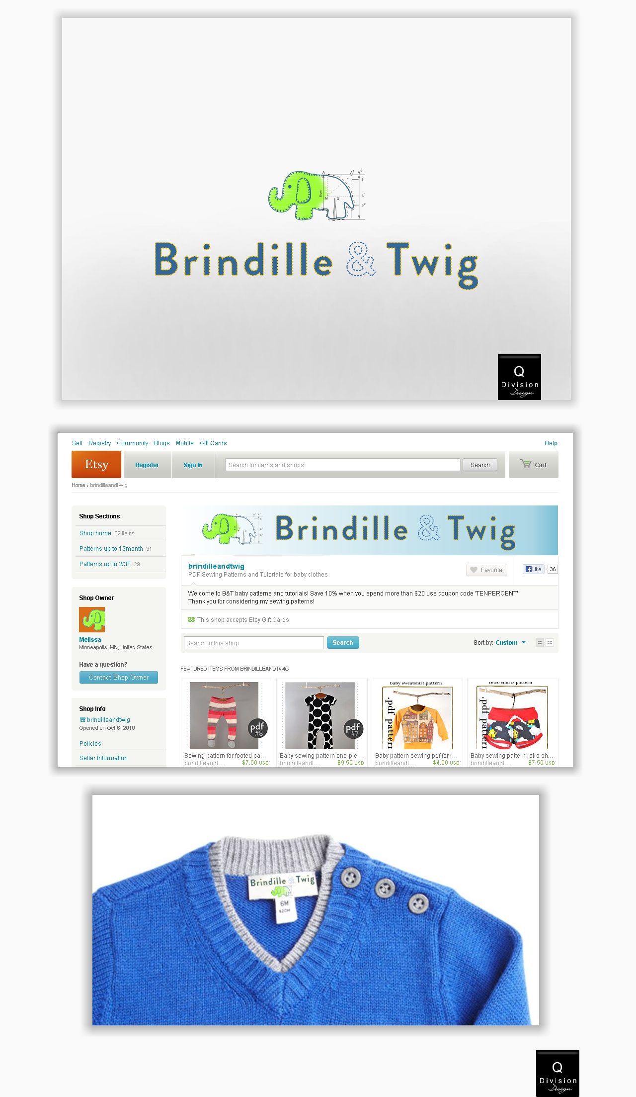 Logo Design by Q_Division_Designs - Entry No. 18 in the Logo Design Contest Logo Design for Brindille & Twig.