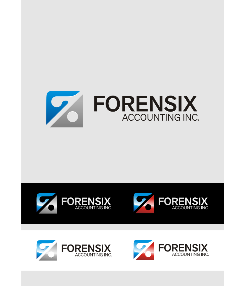 Logo Design by graphicleaf - Entry No. 50 in the Logo Design Contest FORENSIX ACCOUNTING INC. Logo Design.