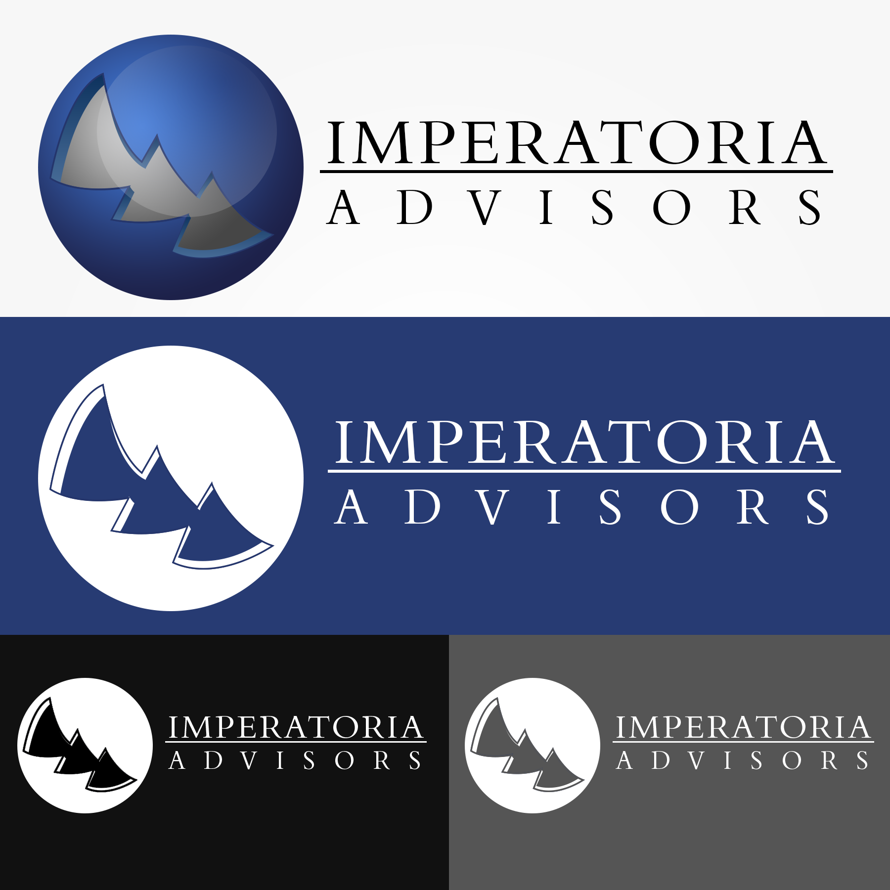 Logo Design by Lemuel Arvin Tanzo - Entry No. 74 in the Logo Design Contest Unique Logo Design Wanted for Imperatoria Advisors.