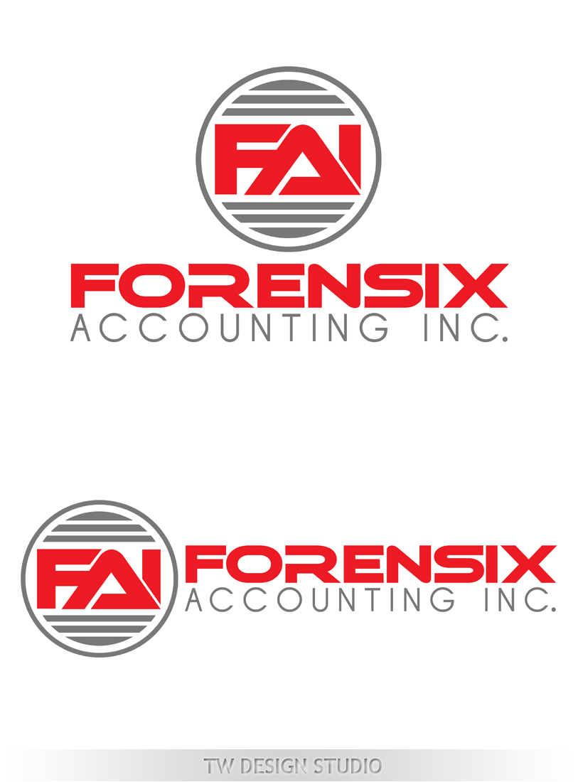 Logo Design by Private User - Entry No. 58 in the Logo Design Contest FORENSIX ACCOUNTING INC. Logo Design.
