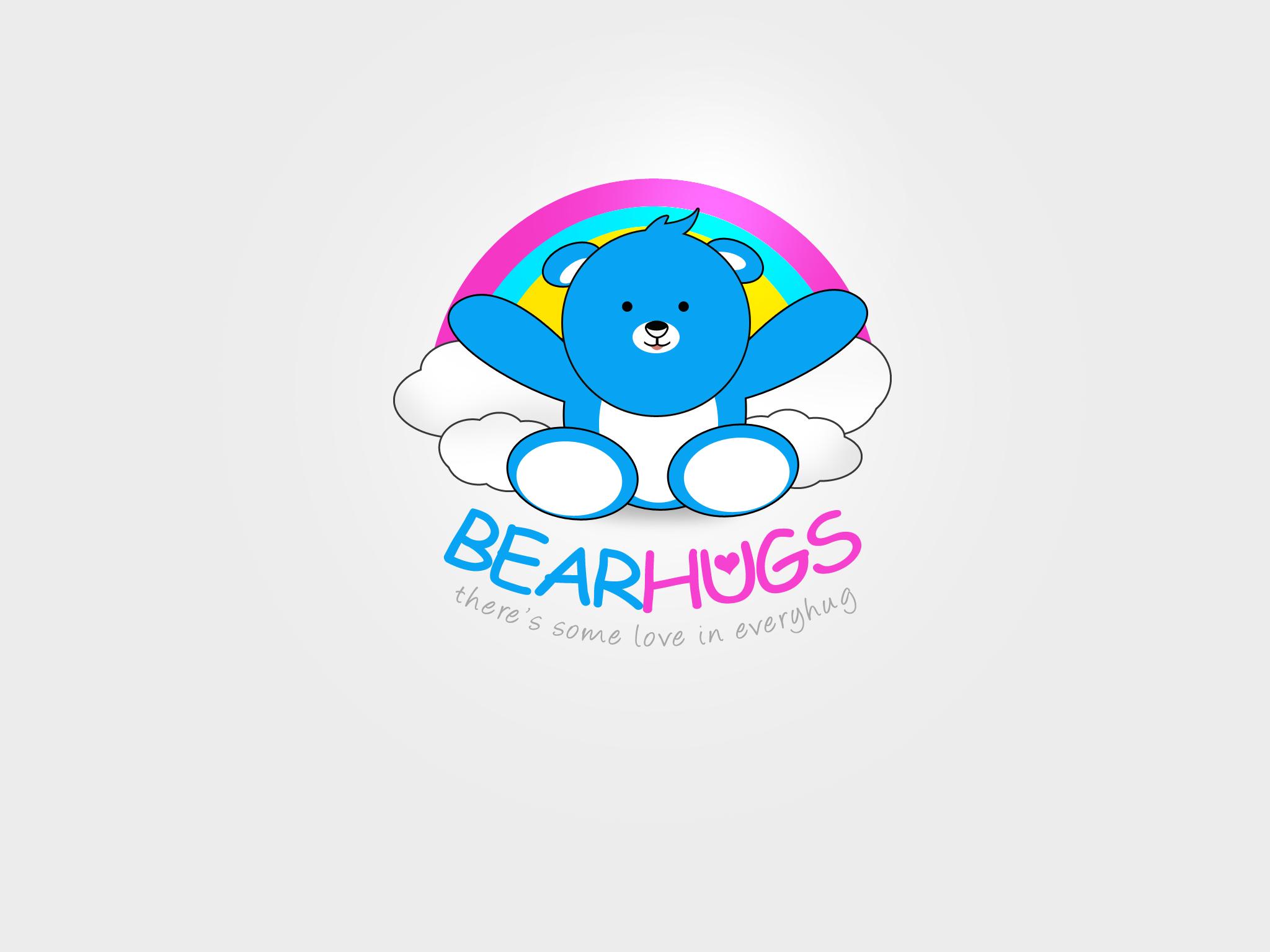 Logo Design by Jan Chua - Entry No. 52 in the Logo Design Contest Inspiring Logo Design for BearHugs.