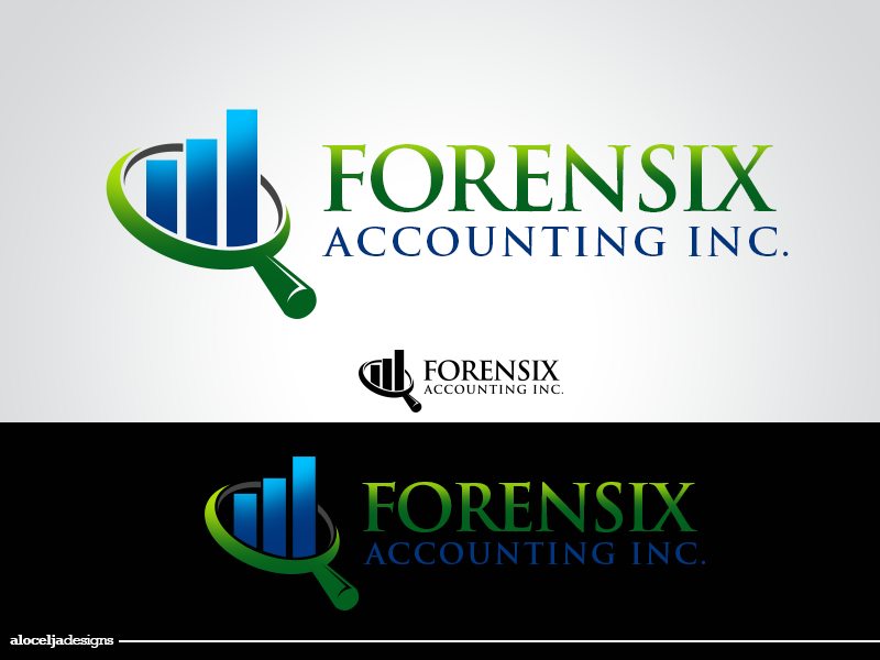 Logo Design by alocelja - Entry No. 59 in the Logo Design Contest FORENSIX ACCOUNTING INC. Logo Design.